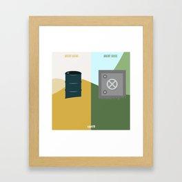Argent Qatari VS Argent Suisse (Paris VS Marseille) Framed Art Print