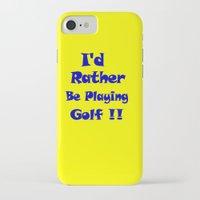 golf iPhone & iPod Cases featuring Golf by Brian Raggatt