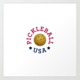 Pickleball USA Art Print