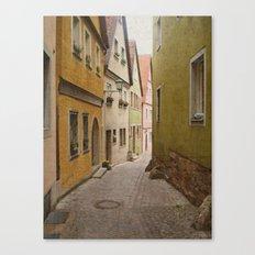 Italian Alley - Bright Colors Canvas Print