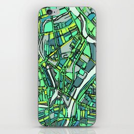 Abstract Map- Lowell MA iPhone Skin