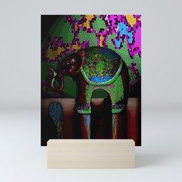 Green Elephant Mini Art Print