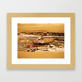 Sand ground Framed Art Print