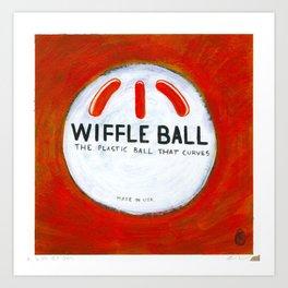 "Wiffle Ball (2011), 17"" x 17"", acrylic on gesso on chipboard Art Print"