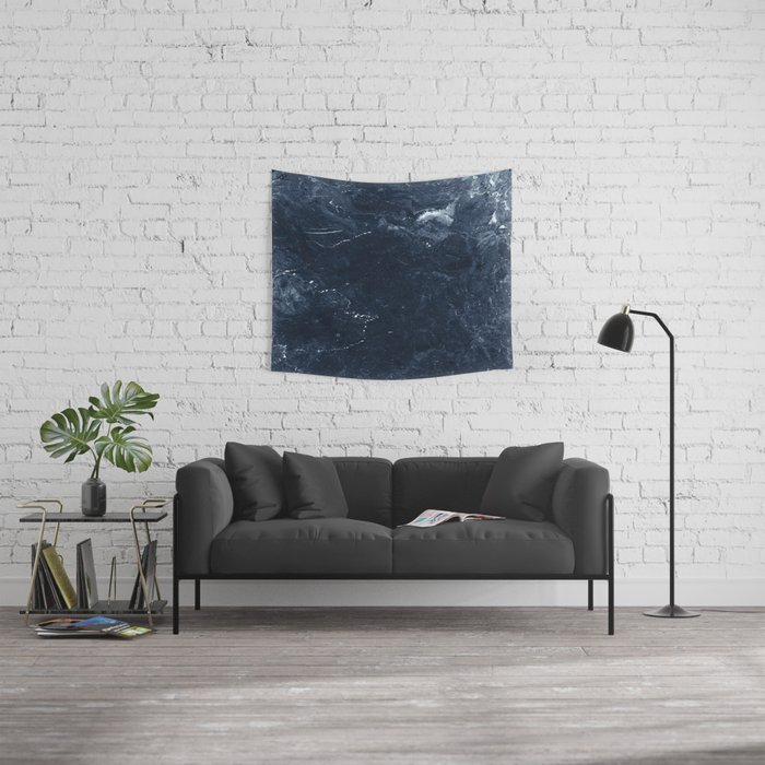 Navy Marble Wall Tapestry