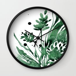Organic Impressions No. 103 by Kathy Morton Stanion Wall Clock
