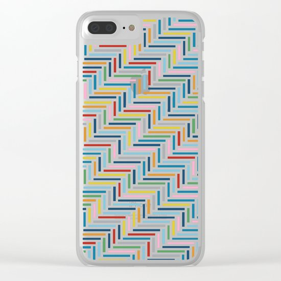 Herringbone Color Clear iPhone Case