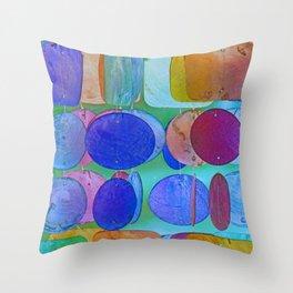 Circles & Squares Pattern I Throw Pillow