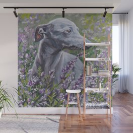 Italian Greyhound dog art from an original painting by L.A.Shepard Wall Mural