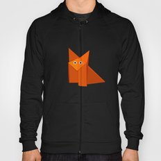 Dark Geometric Cute Origami Fox Hoody