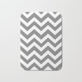 Gray (HTML/CSS gray) - grey color - Zigzag Chevron Pattern Bath Mat
