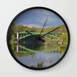 Summer Storm Clouds - Delaware River Wall Clock