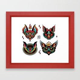 Going Batty Flash Sheet Framed Art Print