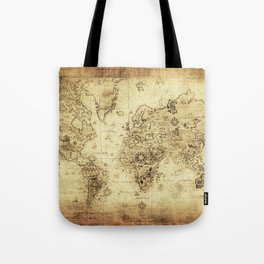 Old World map Tote Bag