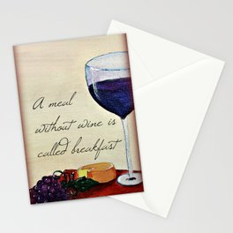 A meal without wine Stationery Cards
