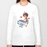 louis Long Sleeve T-shirts featuring Louis & Tea by . . x