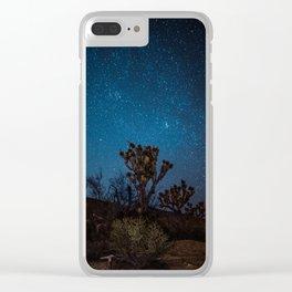 Midnight Stars at Joshua Tree Clear iPhone Case