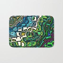 Abstract Blocks of Color Bath Mat