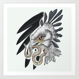 Secretary Bird Art Print