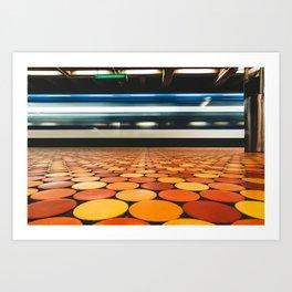 Montreal Subway | Métro de Montréal | Lionel-Groulx Art Print