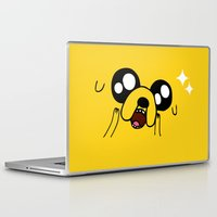 jake Laptop & iPad Skins featuring Happy Jake by KisaSunrise