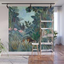 Henri Rousseau Equatorial Jungle Wall Mural