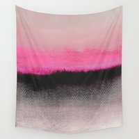 black Wall Tapestries featuring Double Horizon by Georgiana Paraschiv
