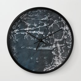 Dark gray marble watercolor design Wall Clock