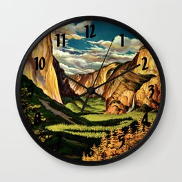 Yosemite National Park - Vintage Travel Wall Clock