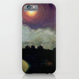 The Killing Moon nighttime beach landscape by Gustaw Gwozdecki iPhone Case