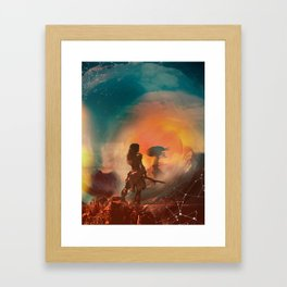 Horizon zero dawn poster game print fan artwork game room wall decor aloy art print game girl Framed Art Print