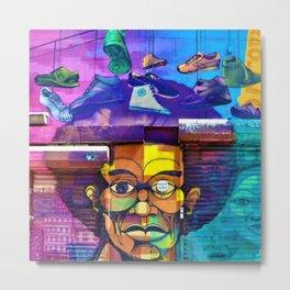 East Harlem African-American Urban Art Portrait Metal Print