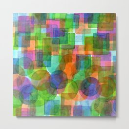 Befriended Squares and Bubbles Metal Print