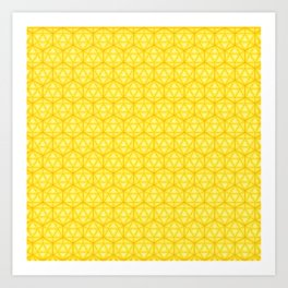 d20 Icosahedron Honeycomb Art Print