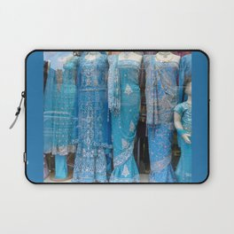 Blue Saris for Sale Laptop Sleeve