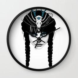 Wakeful Warrior - In Blue Wall Clock