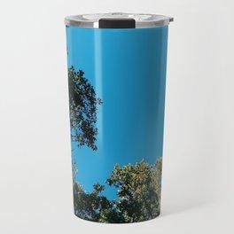 clear blue Travel Mug