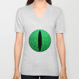 Cat's Eye-Green Unisex V-Neck
