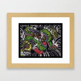 snake and vajra Framed Art Print