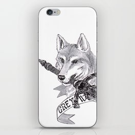 The Great Grey Wolf in the Woods iPhone Skin