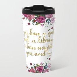 A Garden and a Library Travel Mug