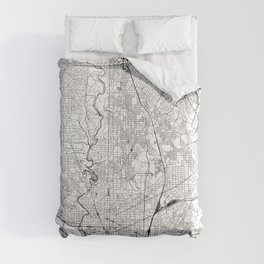 Washington D.C. White Map Comforters