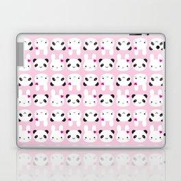 Super Cute Kawaii Bunny and Panda (Pink) Laptop & iPad Skin
