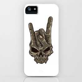 Devil Horns Sign | Heavy Metal Hand Gesture Music iPhone Case