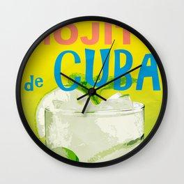 Mojito de Cuba Wall Clock