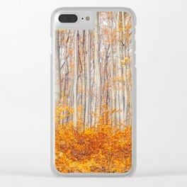 orange autumn Clear iPhone Case