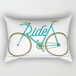 Ride Bike Typography Rectangular Pillow