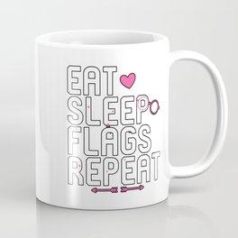 Eat Sleep Flags Repeat Collector Coffee Mug