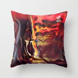 Nature Mother Throw Pillow