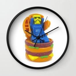 Big Burger Robot Wall Clock